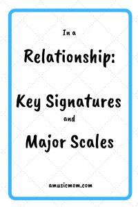 A look at the relationship between key signatures and major scales.